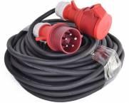 Kabel 400V 25m CEE stik u/fasevender