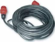 Kabel 400V 25m CEE stik u/fasevende