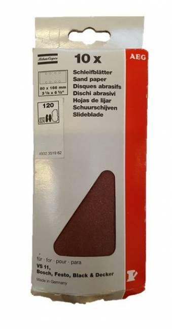 AEG slibepapir 80 x 166 mm